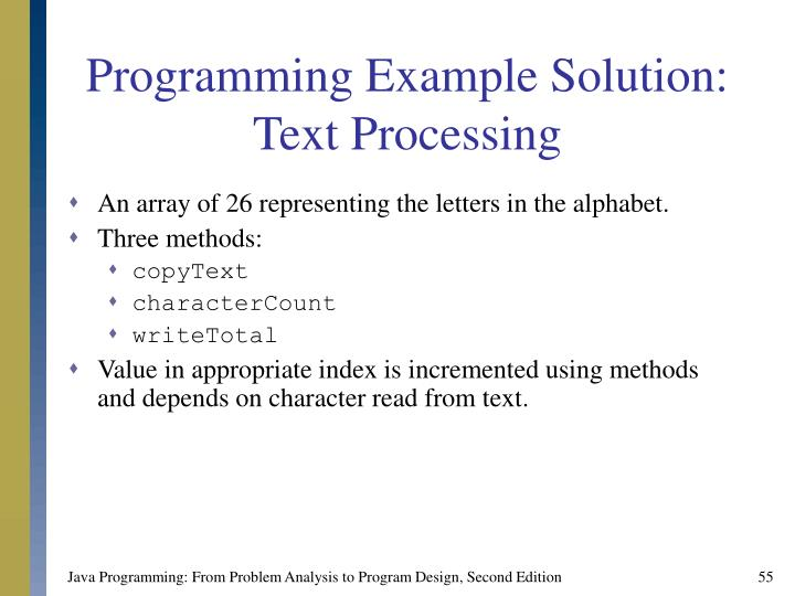 Programming Example Solution: