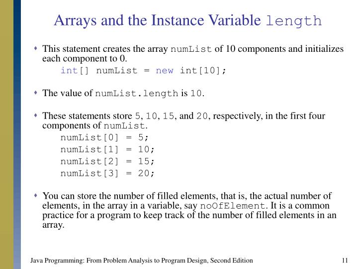 Arrays and the Instance Variable