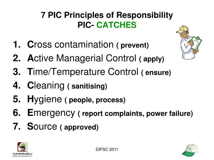 7 PIC Principles of Responsibility