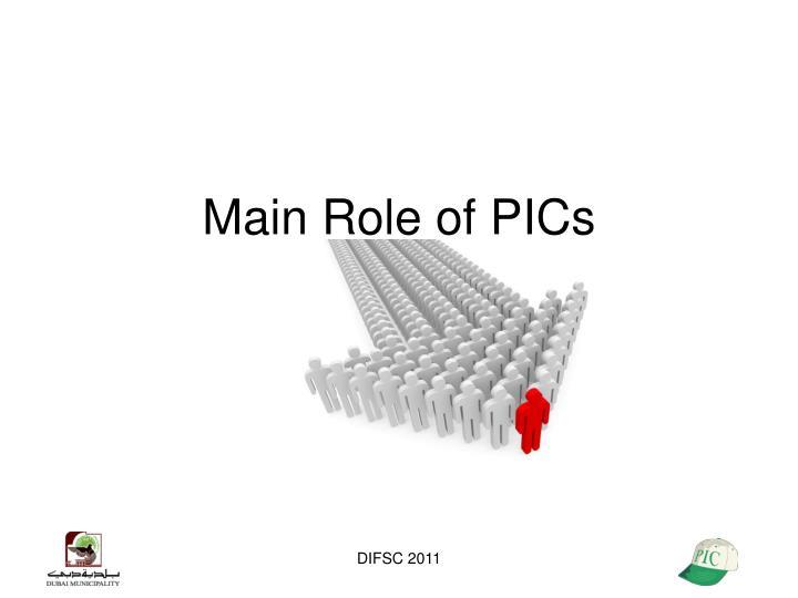 Main Role of PICs