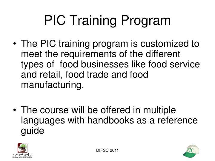PIC Training Program