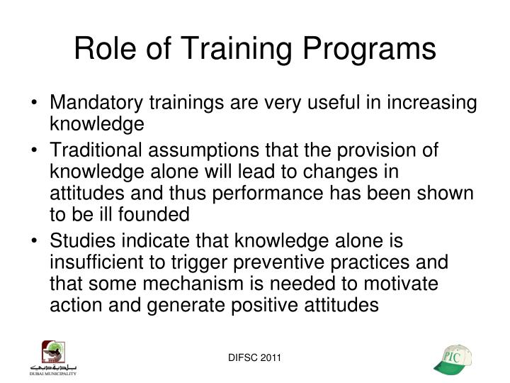 Role of Training Programs