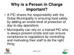 why is a person in charge important