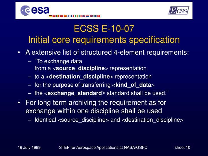 ECSS E-10-07