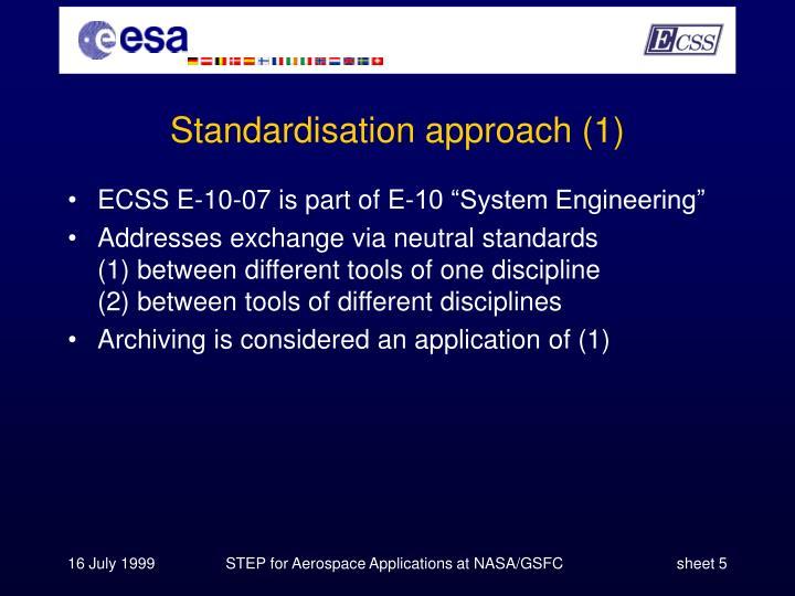 Standardisation approach (1)