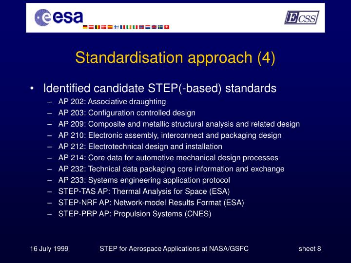 Standardisation approach (4)