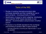 tasks of the wg