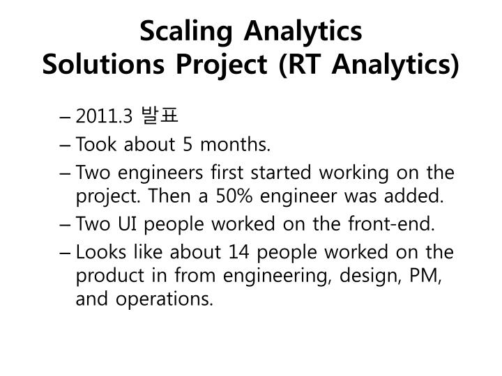 Scaling Analytics