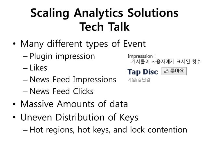 Scaling Analytics Solutions