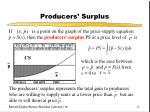 producers surplus