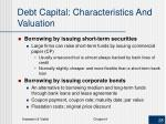debt capital characteristics and valuation3