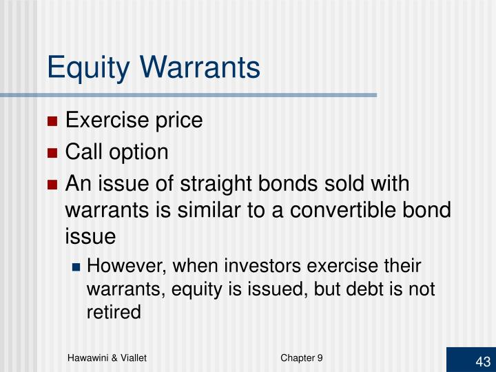 Equity Warrants