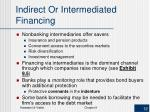indirect or intermediated financing1