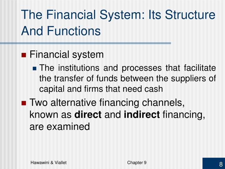 The Financial System: Its Structure And Functions