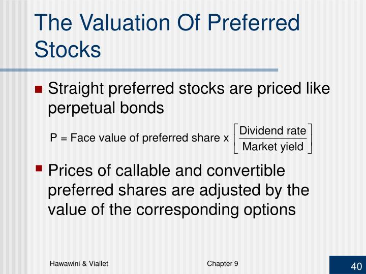 The Valuation Of Preferred Stocks