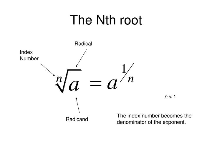 The Nth root