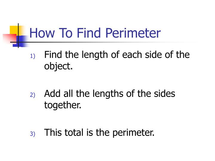 How to find perimeter