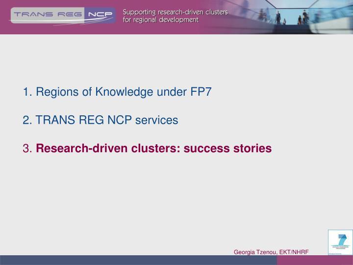 1. Regions of Knowledge under FP7