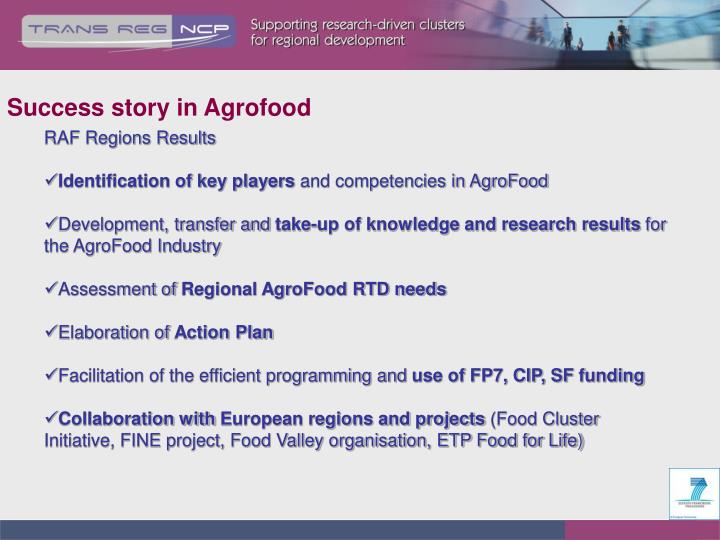 Success story in Agrofood