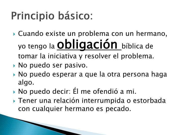 Principio básico: