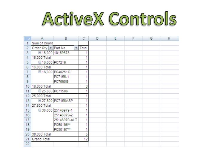ActiveX Controls