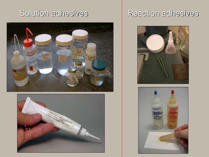 Solution adhesives