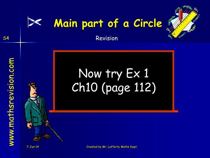Main part of a Circle