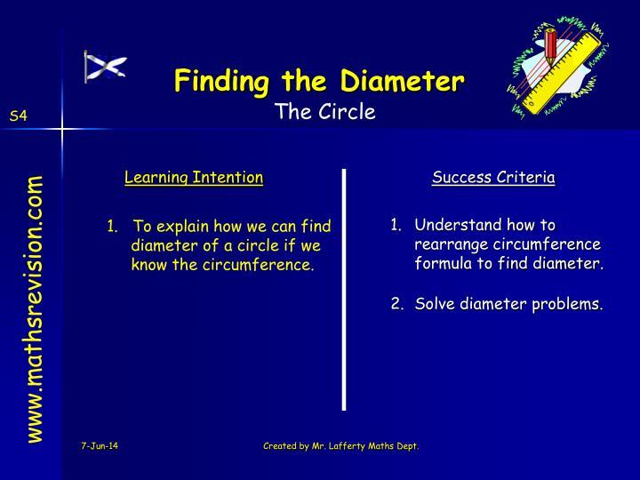 Finding the Diameter