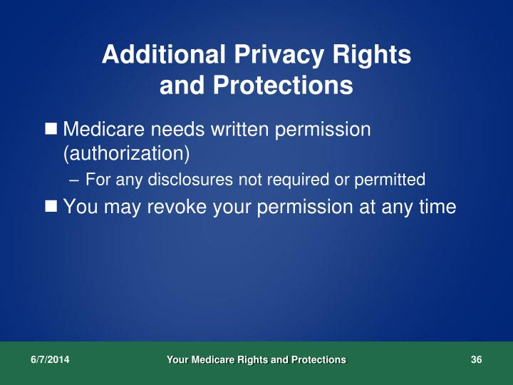 Additional Privacy Rights