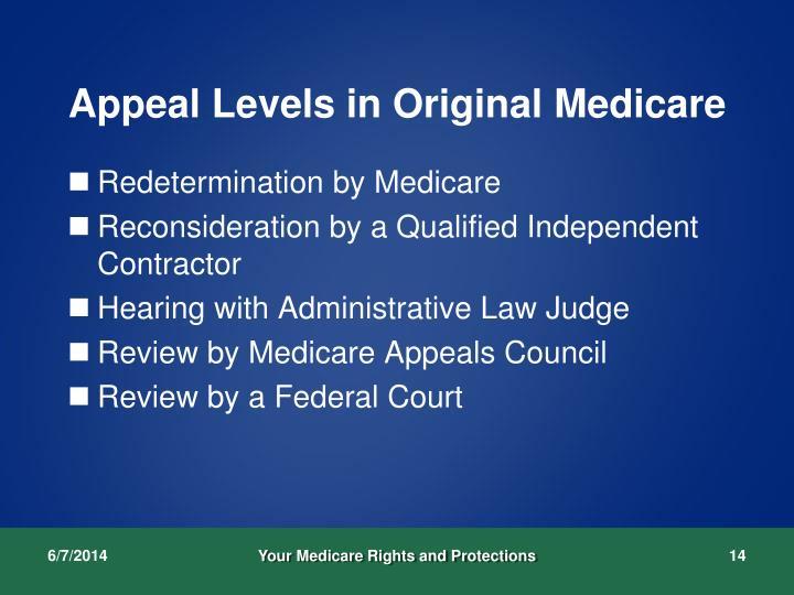 Appeal Levels in Original Medicare