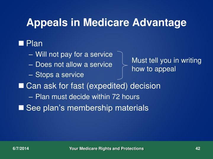 Appeals in Medicare Advantage