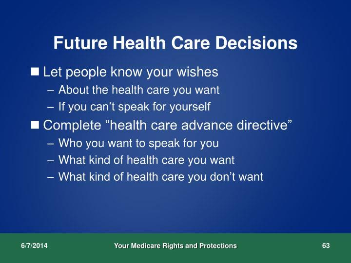 Future Health Care Decisions