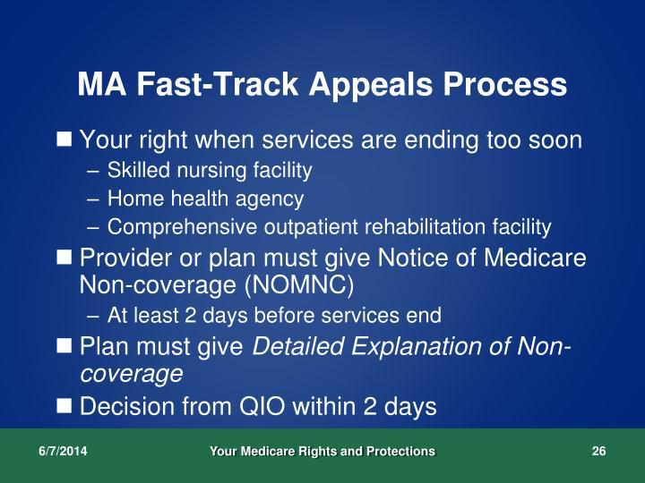 MA Fast-Track Appeals Process