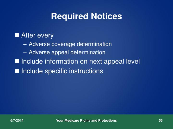 Required Notices