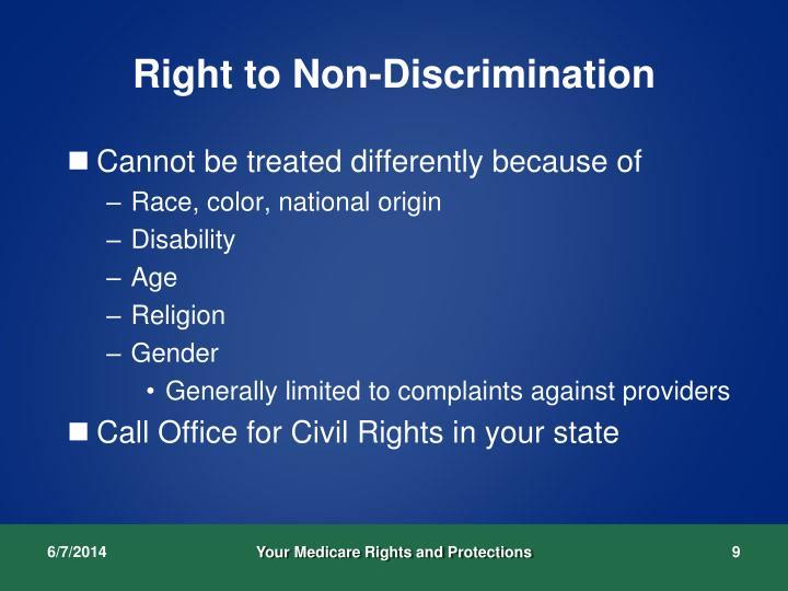 Right to Non-Discrimination