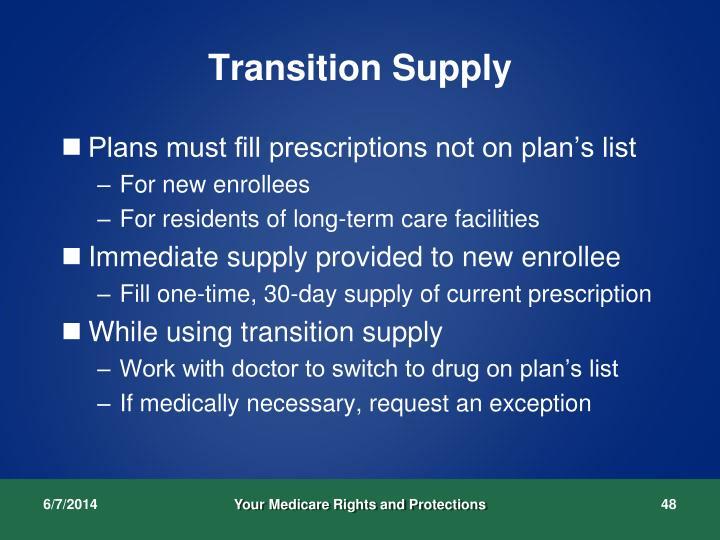 Transition Supply