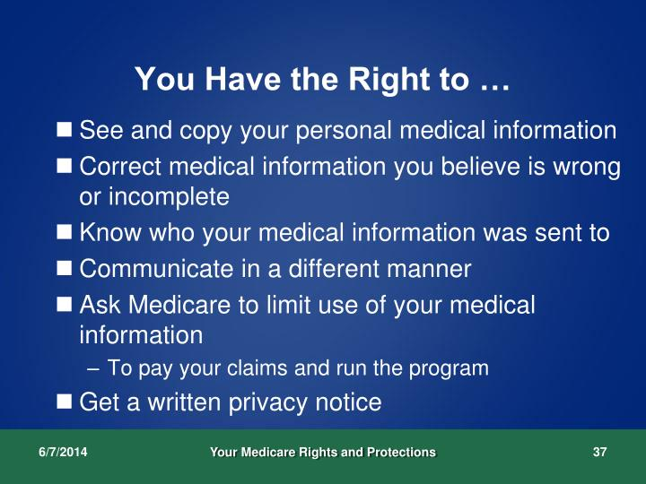 You Have the Right to …