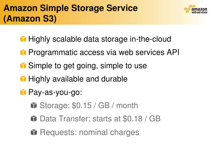 Amazon Simple Storage Service (Amazon S3)