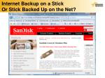 internet backup on a stick or stick backed up on the net