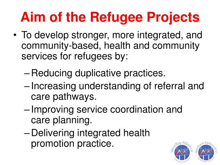 Aim of the Refugee Projects