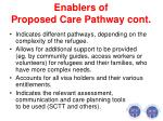 enablers of proposed care pathway cont