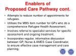 enablers of proposed care pathway cont1