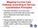 mapping current care pathway according to service coordination principles