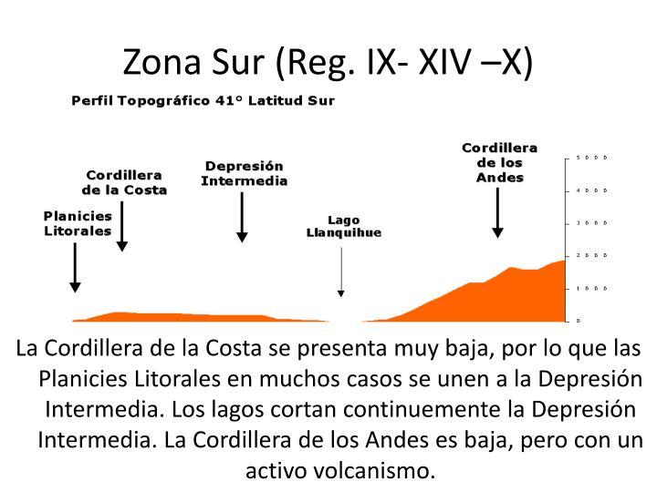 Zona Sur (Reg. IX- XIV –X)