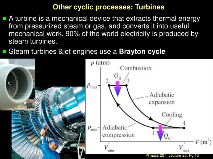 Other cyclic processes: Turbines