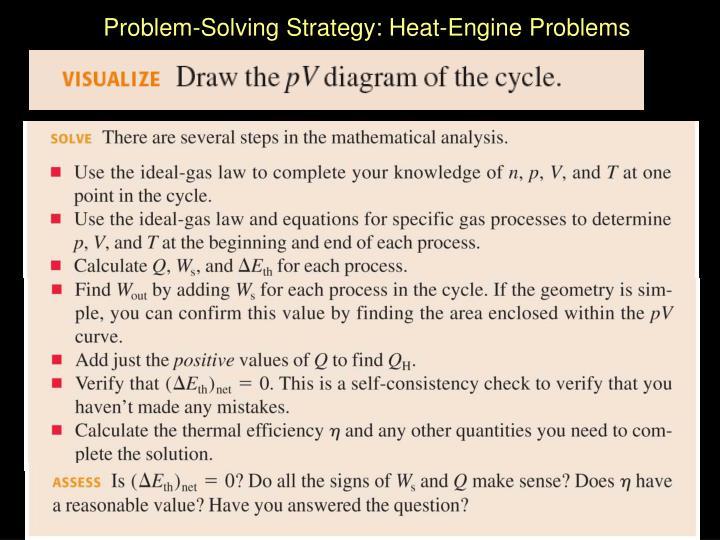 Problem-Solving Strategy: Heat-Engine Problems