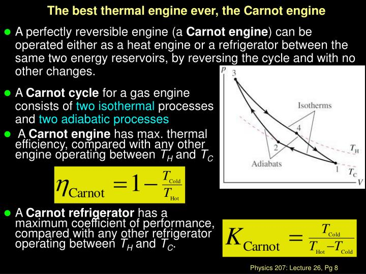 The best thermal engine ever, the Carnot engine