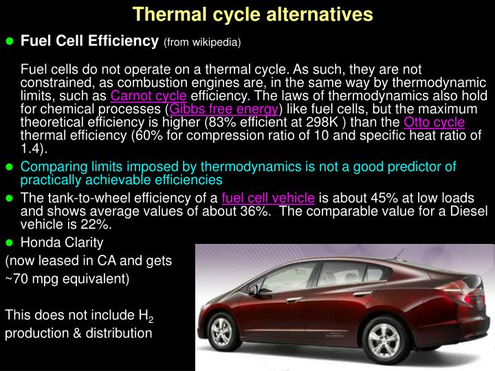 Thermal cycle alternatives