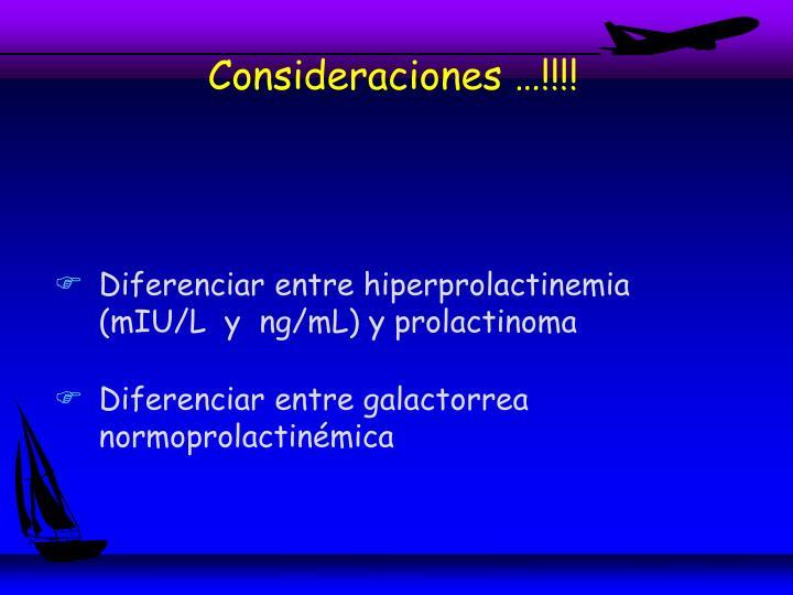 Consideraciones …!!!!