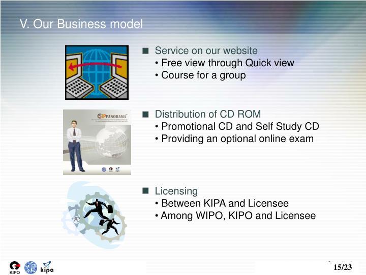 V. Our Business model